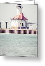 St. Joseph Lighthouse Vertical Panorama Photo Greeting Card