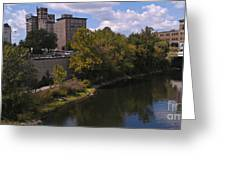 St. Joseph River Panorama Greeting Card by Anna Lisa Yoder