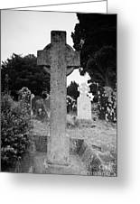 St Kevins Cross High Celtic Cross Grave Stone Glendalough Monastery County Wicklow Republic Of Ireland Greeting Card