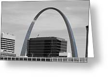 St. Louis Arch From Busch Stadium Greeting Card