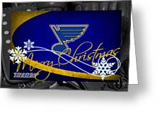 St Louis Blues Christmas Greeting Card