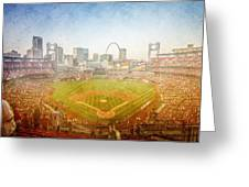St. Louis Cardinals Busch Stadium Texture 2 Greeting Card