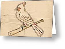St Louis Cardinals Logo Art Greeting Card