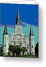 St Louis Cathedral 3 Greeting Card