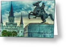 St. Louis Cathedral And Andrew Jackson- Artistic Greeting Card