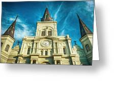 St. Louis Cathedral Greeting Card by Brenda Bryant