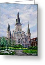 St. Louis Cathedral Greeting Card by Dianne Parks