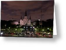 St. Louis Cathedral In Jackson Square Greeting Card