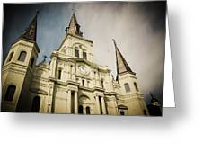 St Louis' Cathedral In New Orleans Greeting Card