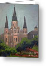 St. Louis Cathedral Greeting Card by Lilibeth Andre