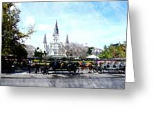 St Louis Cathedral New Orleans Greeting Card