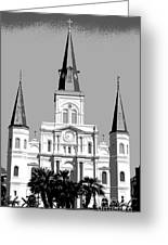 St Louis Cathedral Poster 1 Greeting Card