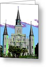 St Louis Cathedral Poster 2 Greeting Card