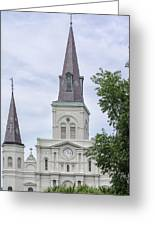St. Louis Cathedral Through Trees Greeting Card