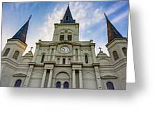 St Louis Cathedral Twilight Greeting Card