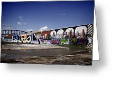 St Louis Graffiti Greeting Card