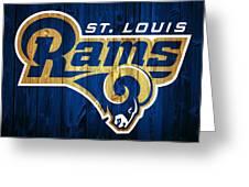 St. Louis Rams Barn Door Greeting Card