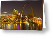 St Louis Skyline With Special Zoom Effect Greeting Card