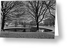 St. Louis - Winter At The Arch 001 Greeting Card by Lance Vaughn