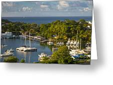St Lucia Harbor Greeting Card