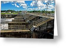St Lucie Lock And Dam Greeting Card by Dan Dennison