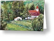 St. Lukes Church And Jefferson Vineyards In Charlottesville Va Greeting Card