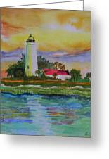 St. Marks Lighthouse-2 Greeting Card
