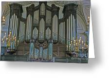 St Martins In The Field Organ Greeting Card