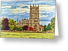 St. Mary Church At Steeple Ashton -2 Greeting Card by Paul Gulliver