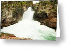 St Mary Falls Glacier National Park Greeting Card