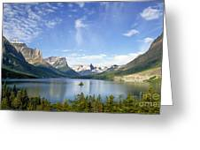 St. Mary Lake And Wild Goose Island Greeting Card