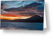 St. Mary Lake Dawn 1 Greeting Card