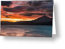 St. Mary Lake Dawn 2 Greeting Card
