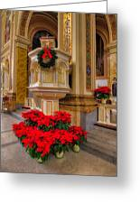 St. Mary Of The Angels Christmas Lectern Greeting Card