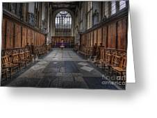 St Mary The Virgin Church - Choir And Altar Greeting Card