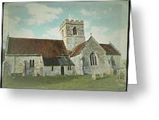 St Marys Church Dinton Wiltshire Greeting Card