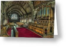 St Marys Church Organ Greeting Card