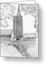 St Marys Church Tenby Greeting Card