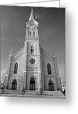 St. Mary's Of Port Washington  B-w Greeting Card