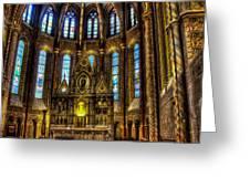 St Matthias Church Interior Greeting Card
