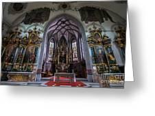 St. Maurice Church - Appenzell - Switzerland Greeting Card