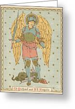 St Michael And All Angels By English School Greeting Card