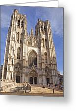 St Michael And St Gudula Cathedral Greeting Card