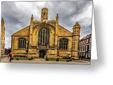 St Michael Le Belfry Church Greeting Card
