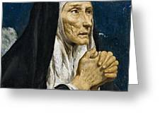 St Monica Greeting Card