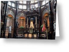 St Nicholas Church Interior In Amsterdam Greeting Card