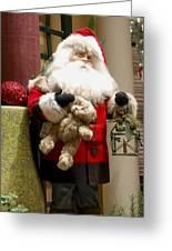St Nick Teddy Bear Greeting Card by Jon Berghoff