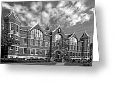 St. Norbert College Main Hall Greeting Card by University Icons