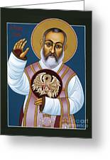 St. Padre Pio Mother Pelican 047 Greeting Card
