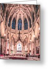 St Patricks Cathedral New York Usa Greeting Card